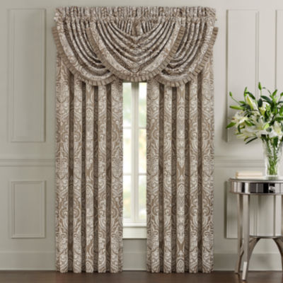 Five Queens Court Stanford 2 Pair Rod-Pocket Curtain Panels