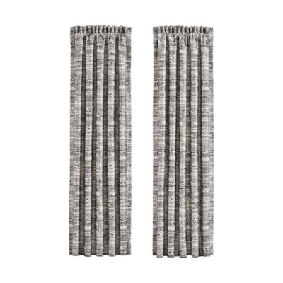 Queen Street Brody 2 Pair Rod-Pocket Curtain Panels