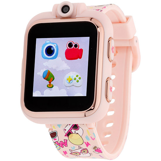Itouch Playzoom Girls Multi-Function Pink Smart Watch-Ipz13068r59b-Bpr