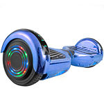 AOB Chrome Hoverboard with Bluetooth Speakers