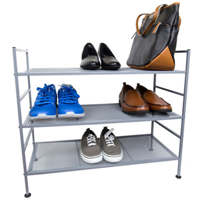 Home Basics 9 Tier Mesh Steel Shoe Rack