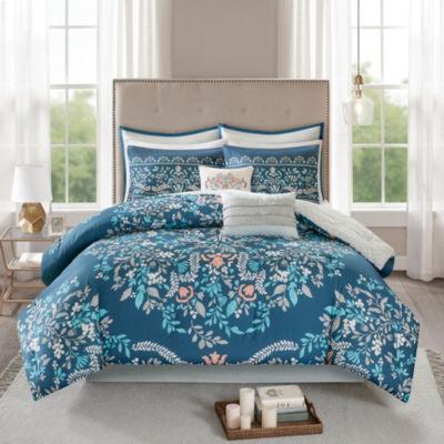 Madison Park Melora 8-pc. Floral Reversible Comforter Set