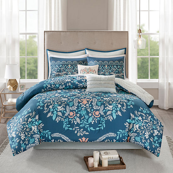 Madison Park Melora 8-pc. Floral Reversible Comforter Set