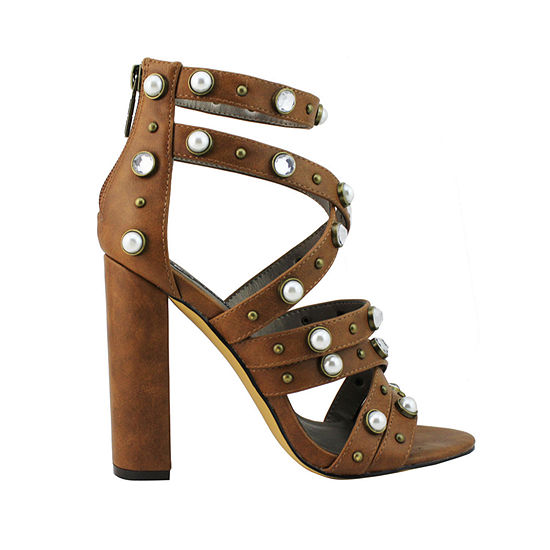Michael Antonio Womens Turcker Heeled Sandals