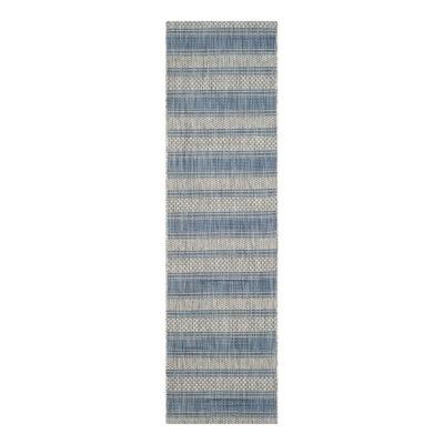 Safavieh Courtyard Collection Jessy Stripe Indoor/Outdoor Runner Rug