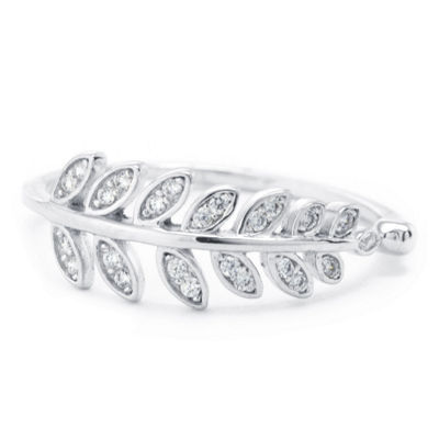 Silver Treasures Womens 2mm Clear Sterling Silver Band