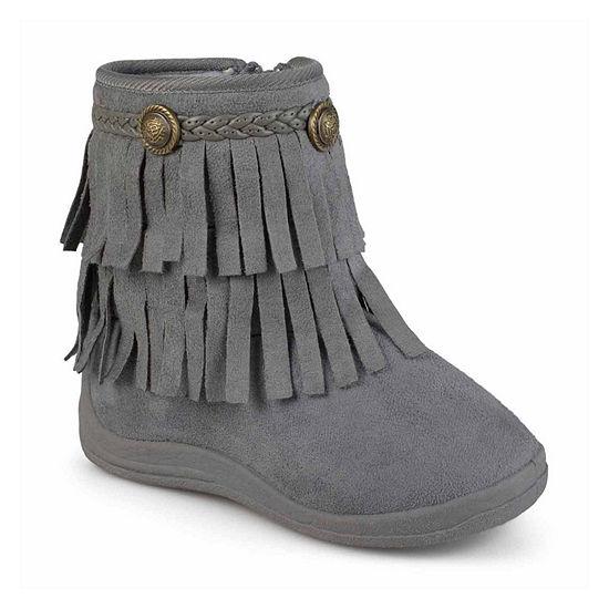 Journee Anza Girls Little Kids Riding Boots Flat Heel Zip