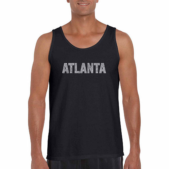 Los Angeles Pop Art Big and Tall Mens Crew Neck Sleeveless Tank Top