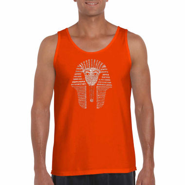 Los Angeles Pop Art King TuT Word Art Tank Top- Men's Big and Tall
