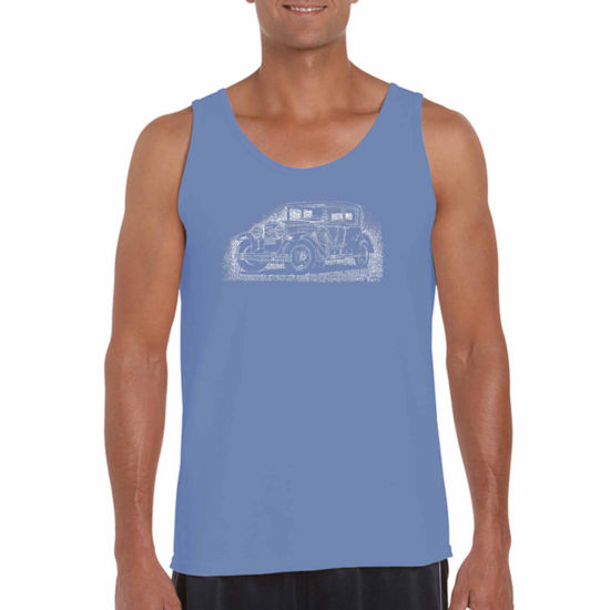 Los Angeles Pop Art Legend Word Art Tank Top- Men's Big and Tall