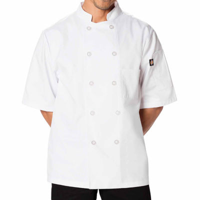 Dickies Unisex Short Sleeve 10 Button Chef Coat - Big