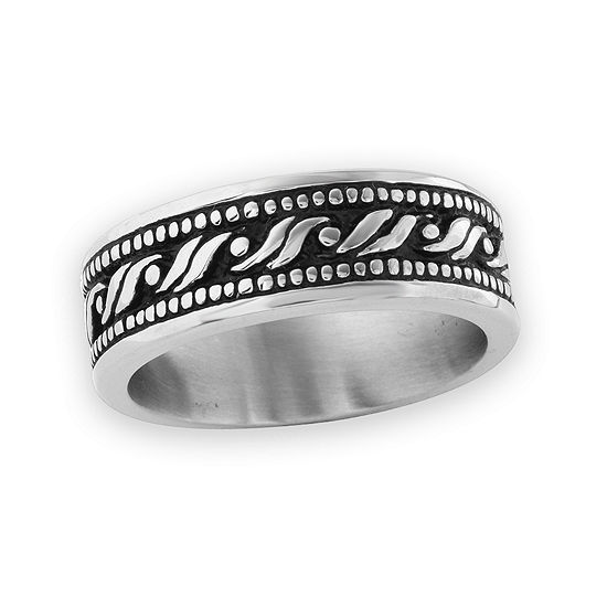 8 Mm Stainless Steel Wedding Band
