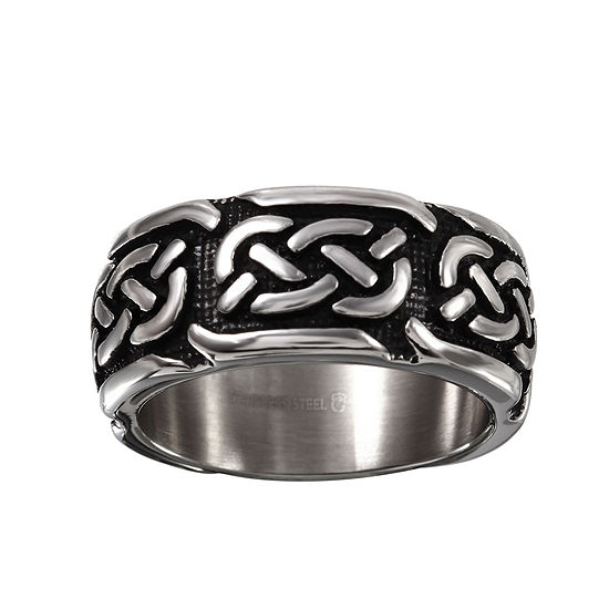 Mens 10 Mm Stainless Steel Wedding Band