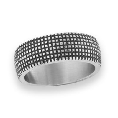 Mens 7 Mm Stainless Steel Band