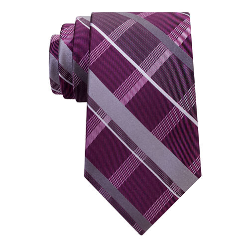 Stafford Comfort Stretch Open Plaid Tie