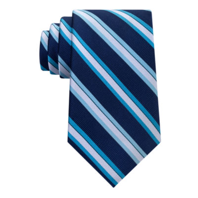 Stafford Comfort Stretch Text Stripe Tie