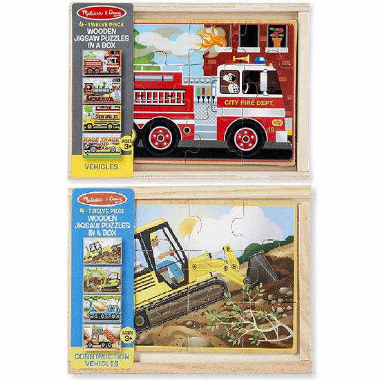 Melissa & Doug Vehicle And Construction Box Bundle