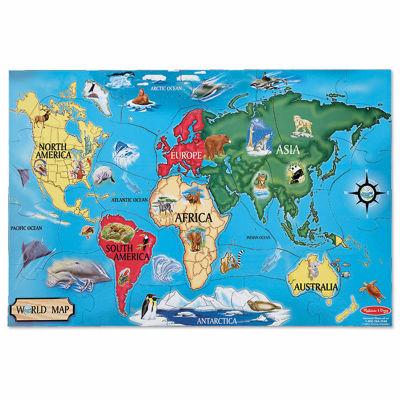 Melissa & Doug® World Map Floor (33 pc)