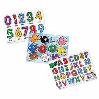Melissa & Doug Mix 'N Match Puzzle Bundle (3 Puzzle Bundle)
