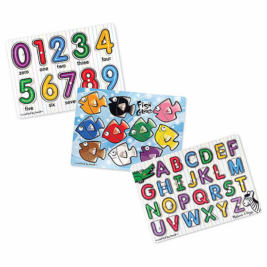 Melissa & Doug Mix 'N Match Puzzle Bundle (3 Puzzles)