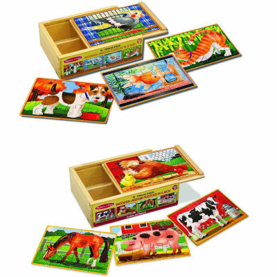 Melissa & Doug® Pets & Farm Box Puzzle Bundle