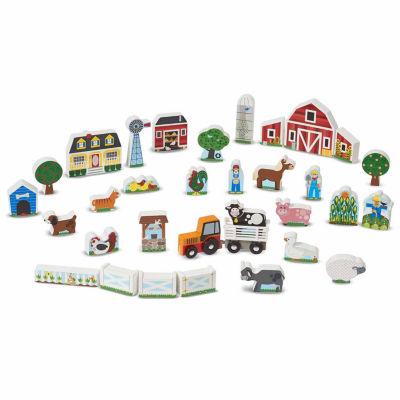 Melissa & Doug® Wooden Farm & Tractor Play