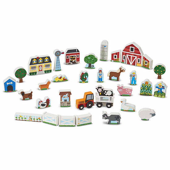 Melissa & Doug® Wooden Farm & Tractor Play