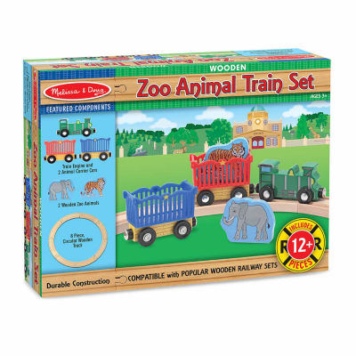 Melissa & Doug® Zoo Animal Train Set