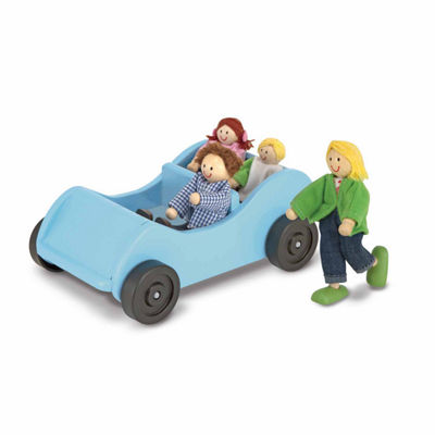 Melissa & Doug® Road Trip! Wooden Car & Pose-ablePassengers