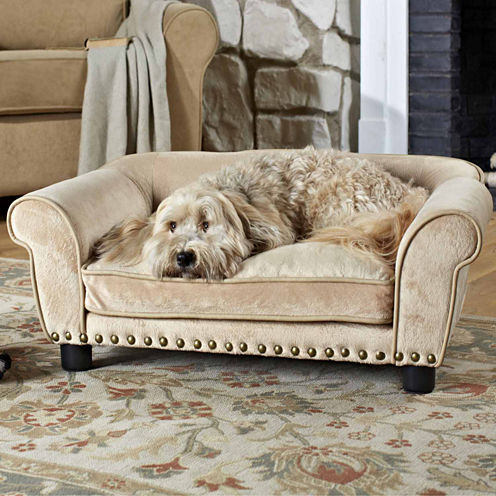 Enchanted Home Ultra Plush Dreamcatcher Pet Sofa in Caramel