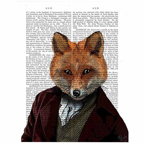 Fox Portrait Canvas Wall Art