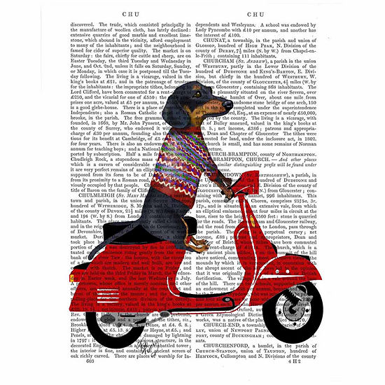 Dachshund On A Mopedcanvas Wall Art