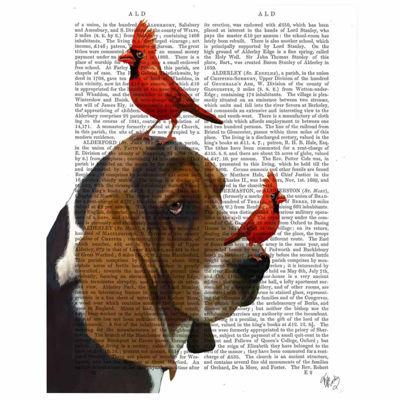 Basset Hound and Birds Canvas Wall Art