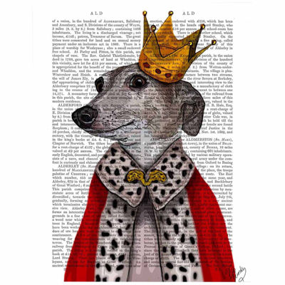 Greyhound Queen Canvas Wall Art