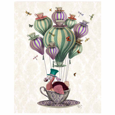 Dodo Balloon with Dragonflies Canvas Wall Art