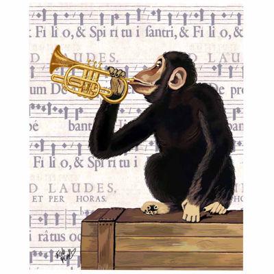 Musical monkey Canvas Wall Art