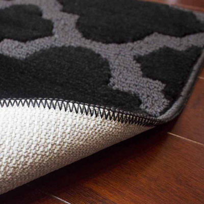 Jean Pierre Cut and Loop Alessandra Textured Decorative Rectangular Accent Rug