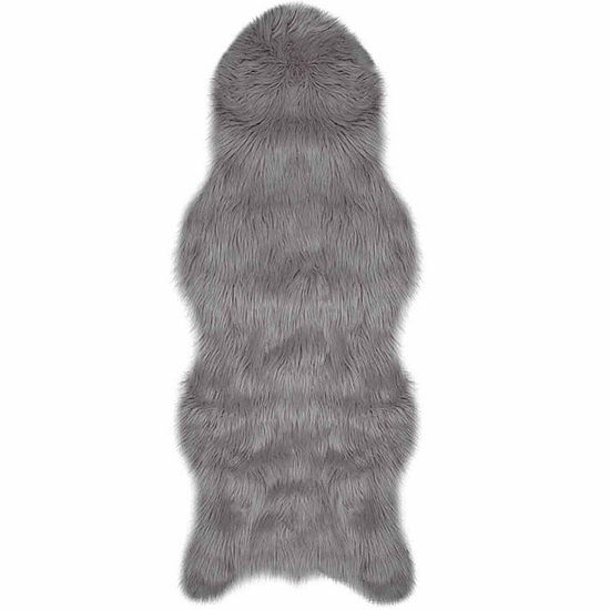 Jean Pierre Faux-Fur Rectangular Area Rug