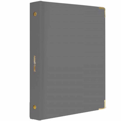 Russell+Hazel® Charcoal Patent Mini 3 Ring Binder