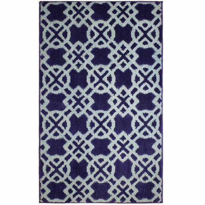 Jean Pierre Cut and Loop Tazo Textured Decorative Rectangular Accent Rug