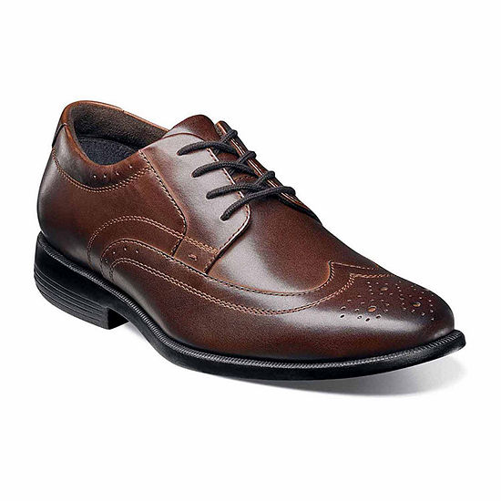Nunn Bush Mens Decker Oxford Shoes Wing Tip
