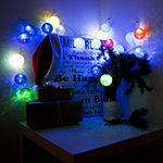 Aleko Battery Operated 20 LED Ball Flash Light Christmas Holiday Party String Lights