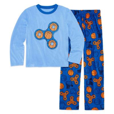 Basketball Fidget Spinner 2 Piece Pajama Set - Boys 4-20