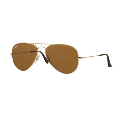 Ray-Ban Sunglasses - Rb3025 Aviator Large Metal /Frame: Gold Lens: Crystal Brown (58)