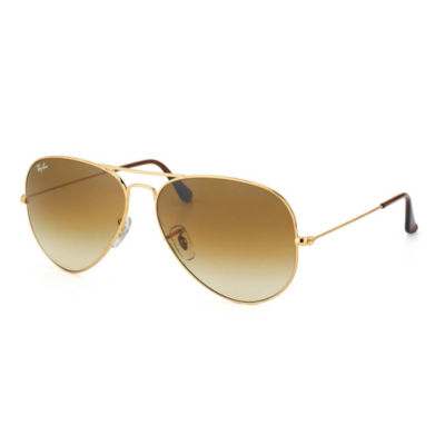 Ray-Ban Sunglasses - Rb3025 Aviator Large Metal /Frame: Gold Lens: Crystal Brown Gradient (58)