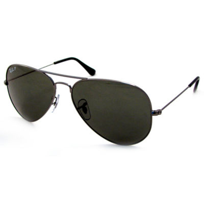 Ray-Ban Sunglasses - Rb3025 Aviator Large Metal /Frame: Gunmetal Lens: Crystal Green Polarized (58Mm)