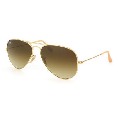 Ray-Ban Sunglasses - Rb3025 Aviator Large Metal /Frame: Matte Gold Lens: Brown Gradient (58Mm)