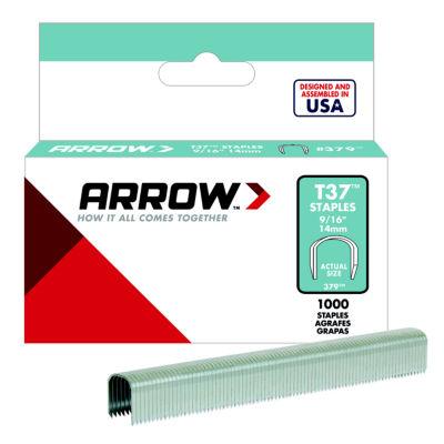 "Arrow Fastener 379 9/16"" T37 Staples 1:000 Count"""