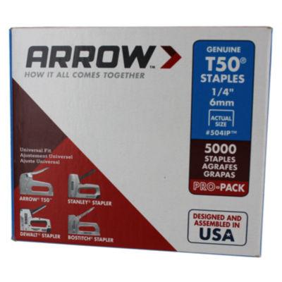Arrow Fastener 504Ip 1/4IN T50 Staples 5000 Count