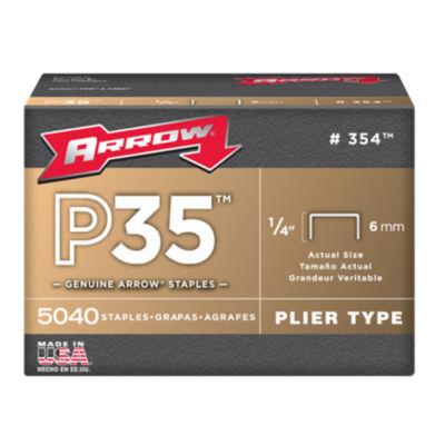 """Arrow Fastener 354 1/4"""" P35 Staples"""""""